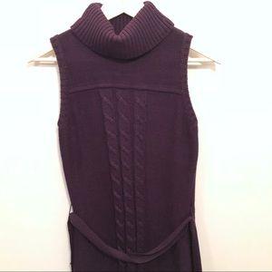 Calvin Klein Sleeveless Turtleneck Sweater Dress